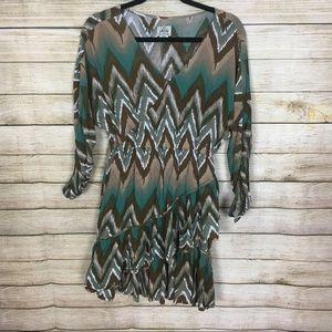 Ariat Long Sleeve Chevron Dress